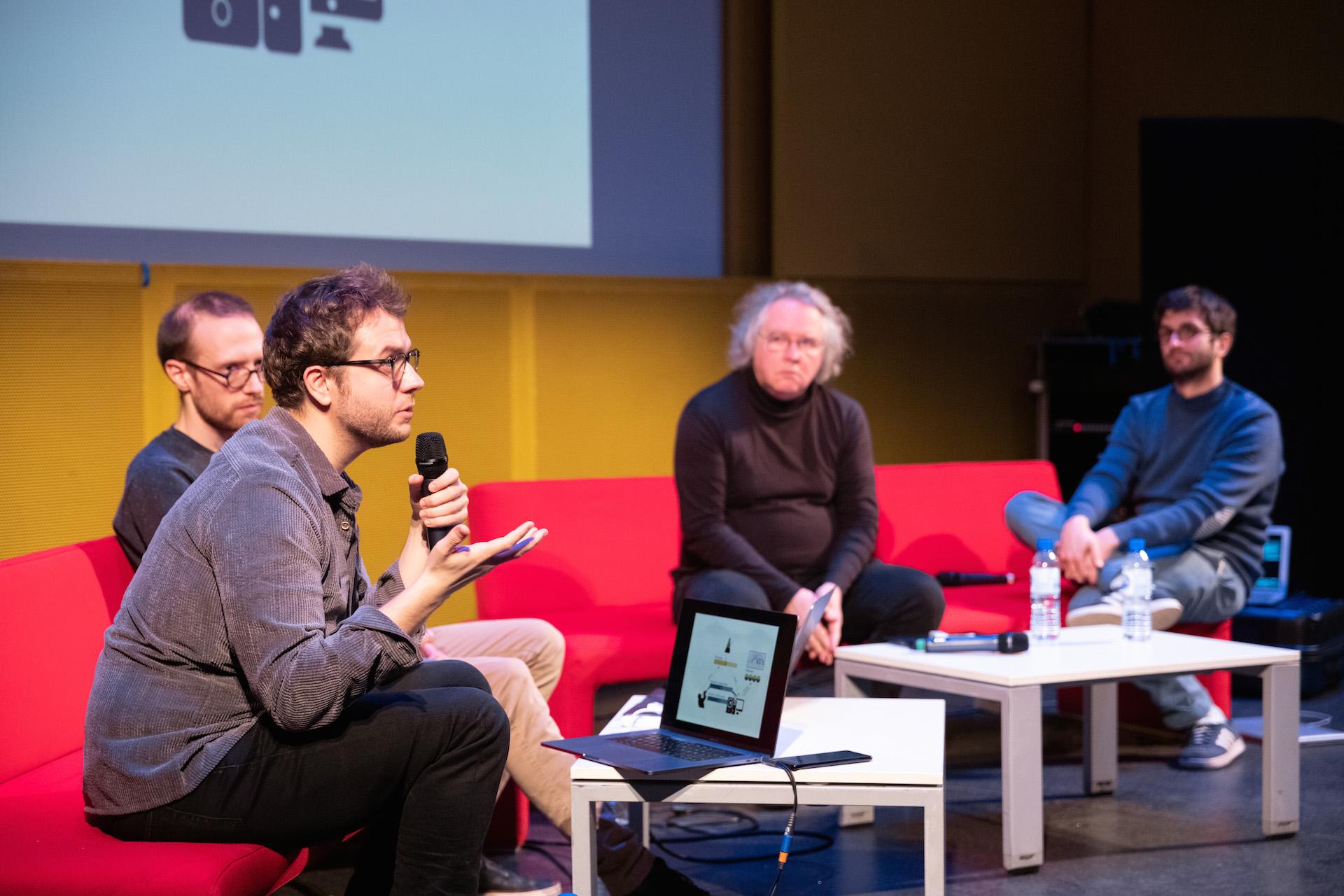 Jérôme Nika, Pierre Lelièvre (caché), Jean-Claude Heudin & François Clos
